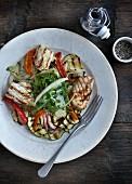 Tintenfischsalat mit Grillgemüse