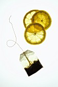 Lemon slices and a tea bag