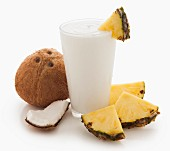A coconut and pineapple smoothie