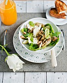 Mixed leaf salad with fennel and Camembert