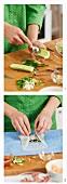 Preparing stuffed rice-paper rolls