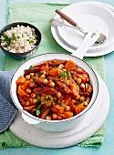 Tomato, Chorizo & Kumara hotpot