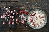 Gezuckerte Cranberries herstellen