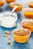 Carrot and spelt muffins with coconut