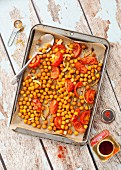 Spicy roasted chickpeas with tomatoes
