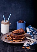 Brownies with almond cream