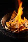 Flambierte Crepes Ristretto mit Sirup