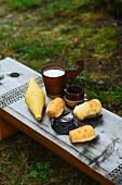 Oscypek (smoked cheese made from salted sheep's and cow's milk, Tatra Mountains, Poland)