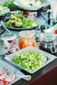 Salatbuffet im Restaurant