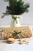 A Christmas patterned rolling pin