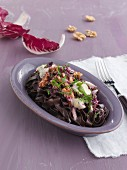 Tagliatelle di Cacao with gorgonzola and radicchio