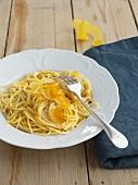 Spaghetti alla Bottarga with lemon