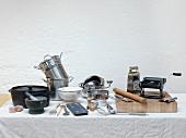 Various kitchen utensils for pasta dishes