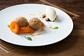 Quark dumplings with apricots