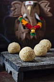 Paneer and millet ladoo (India)