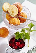 Quark balls with berry compote