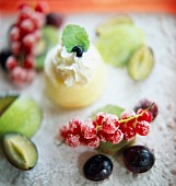 Panna cotta with summer fruits