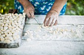 Gnocci being made
