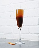 A Black Velvet Cocktail made with Guinness