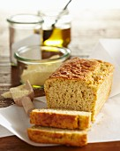 Banana cakes with millet, sliced