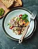 Beef and vegetable salad