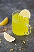Lemon jelly kissel (kisiel) in a glass