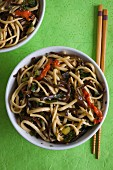 Noodle salad with aubergines (Thailand)