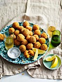 Crisp cheesy risotto balls