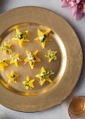 Carrot terrine stars with goats' cheese