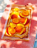 Apricot and nectarine tart