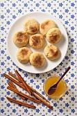 Mantecaos (deep-fried Spanish pastries)