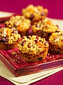 Apple and millet muffins with cranberries