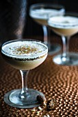 Cocktails made with coffee liqueur and nutmeg