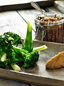 Steamed broccoli with anchovy mayonnaise