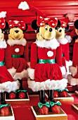 Walt Disney World - Minnie Mouse als Weihnachtsmann, Florida, USA