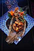 Caramelised sole with carrot flowers (Asia)