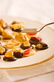 Chocolate fruits with candied ginger