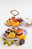 Colourful summer tartlets