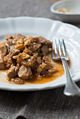 Sweet-and-sour beef tongue