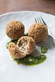 Meatballs with pesto