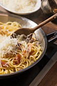 Spaghetti with bacon and Parmesan