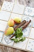 Feldsalat, Birnen und Zimt