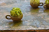 Cream cheese balls with pistachio nuts