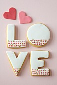 LOVE biscuits for Valentine's Day