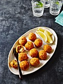 Arancini (deep-fried, stuffed rice balls, Sicily, Italy)
