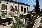 Mischkenot Schaananim, a quarter in the old town, Jerusalem, Israel
