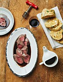 Saddle of venison with napkin dumplings