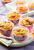 Cherry muffins with chocolate chips
