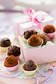 Chocolate truffles for gifting