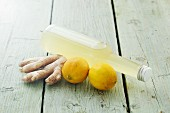 Selbstgemachter Zitronen-Ingwersirup